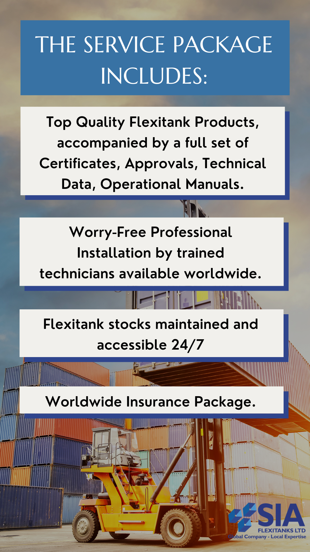 SIA Service Package for Freight Forwarding Companies