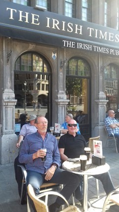 SIA Steve and Leo from SIA Italy relaxing in the Belgian sunshine. Taking in some vitamins and iron.