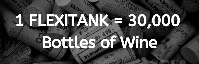 One flexitank is equal to 30,000 bottles of wine. SIA Flexitanks